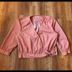 Madewell Wrap Top in Star Scattered Sz M